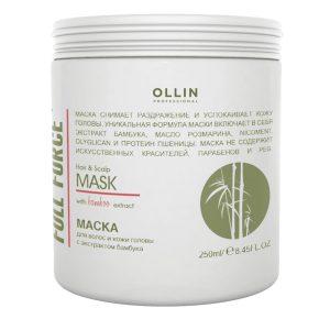 |Маска для волос и кожи головы Ollin full force с экстрактом бамбука