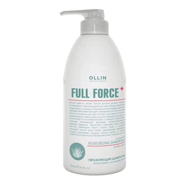 Увлажняющий шампунь против перхоти Ollin full force с экстрактом алоэ - 750 мл