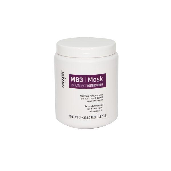 Восстанавливающая маска для всех типов волос с аргановым маслом DIKSON MASK RISTRUTTURANTE M83, 1000мл