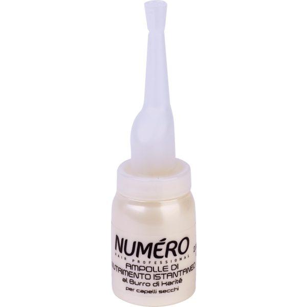 Питательное средство NUMЕRO SHEA BUTTE, с маслом карите для сухих волос в ампулах, 6х12 мл